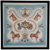 One Kings Lane Vintage Framed French Hermès Carriage Silk Scarf