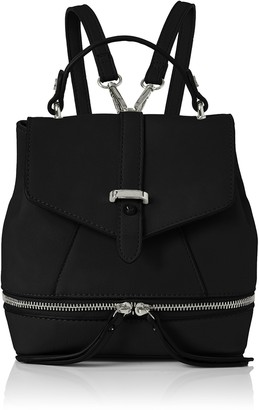 Swankyswans Swanky Swans Womens Hula Faux Leather Backpack Backpack Handbag Black (Black)