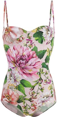 Dolce & Gabbana Floral Print Swimsuit