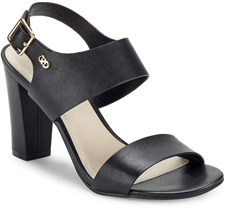 Cole Haan Women's Octavia Block-Heel Leather Sandals