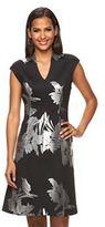 Apt. 9 Women's Floral Scuba Fit & Flare Dress