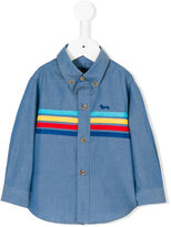 Harmont & Blaine Junior stripe panel shirt