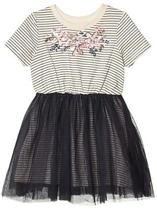 Cotton On Vivienne Dress Up Dress (Toddler/Little Kids/Big Kids) (Ink Stripe/Floral) Girl's Clothing