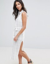 Glamorous Tie Waist Shirt Dress