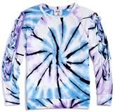 Flowers by Zoe Girls' Lace-Up Sleeve Tie-Dye Sweatshirt - Big Kid