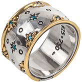 Konstantino Astria Blue Spinel Stardust Band Ring, Size 7