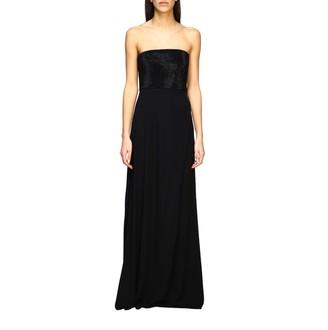 Emporio Armani Dress Long Dress With Rhinestone Bodice