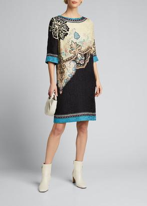 Etro Venetian Matelasse Sheath Dress