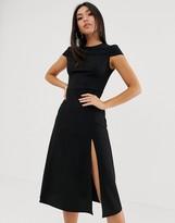Asos Design DESIGN high split skater midi dress