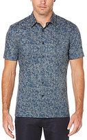 Perry Ellis Floral-Print Short-Sleeve Woven Shirt