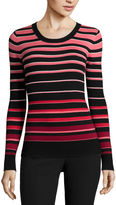 WORTHINGTON Worthington Essential Long-Sleeve Pullover Sweater - Petite