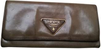 Prada Khaki Leather Wallets