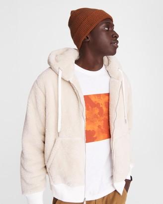 Rag & Bone Damon sherpa zip hoodie