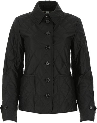 Burberry Quilted Button Up Jacket