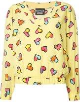 Moschino heart print blouse - women - Silk - 42