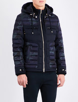 Balmain Camo-print quilted shell and wool jacket