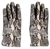 Emporio Armani Embossed Leather Gloves