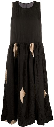 UMA WANG Sleeveless Crinkled Effect Dress