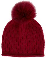 Loro Piana Baby Cashmere Fur-Trimmed Beanie