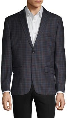 Tommy Hilfiger Standard-Fit Check Wool-Blend Sportcoat