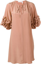 See by Chloe frill sleeve dress - women - Silk/Viscose - 38
