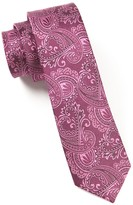 The Tie Bar Wine Twill Paisley Tie
