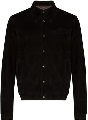 Ajmone suede buttoned shirt jacket