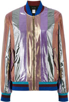 Michel Klein metallic stripe bomber - women - Lurex - 38
