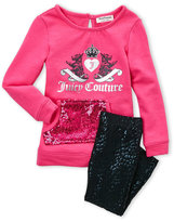Juicy Couture Toddler Girls) Two-Piece Logo Sequin Pocket Pullover & Leggings Set