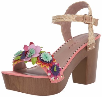 Betsey Johnson womens Jillie Heeled Sandal