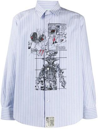 Aries Regular-Fit Graphic Print Shirt