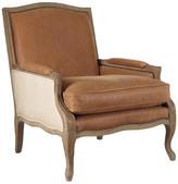 OKA Burford French Style Tobacco Leather Armchair