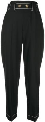 REJINA PYO High-Rise Straight Leg Trousers