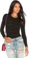 Arc Jenny Long Sleeve Bodysuit in Black. - size M (also in S)