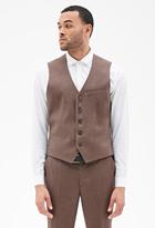 Forever 21 FOREVER 21+ Satin-Back Suit Vest
