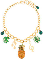 Dolce & Gabbana pineapple charm necklace