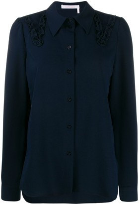 See by Chloe Embroidered Long-Sleeve Shirt