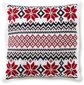 Daniel Cremieux Warm Shop Collection Nordic Fair Isle-Embroidered Square Pillow