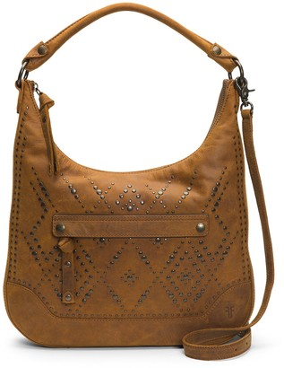 Frye Melissa Studded Large Zip Hobo Handbag