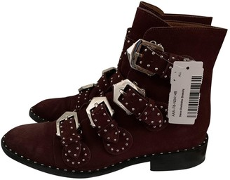 Givenchy Burgundy Suede Ankle boots