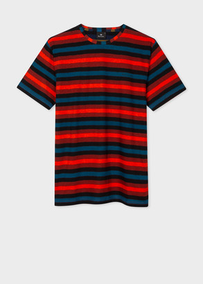 Paul Smith Men's Red Stripe Cotton T-Shirt