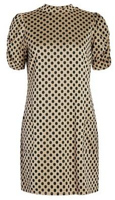 Dorothy Perkins Womens Camel Spot Print Tunic Top