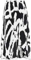 Proenza Schouler Printed plissé midi skirt