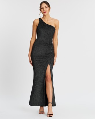 Bariano Holly One Shoulder Split Maxi Dress