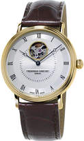 Frederique Constant FC315M4P5 Heart Beat gold-plated and leather automatic watch
