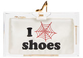 Charlotte Olympia Transparent 'Pandora Loves Shoes' Clutch