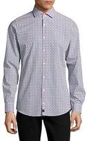 Strellson Sean Grid Print Sport Shirt