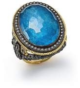 Armenta 18K Yellow Gold and Blackened Sterling Silver Labradorite Triplet, Diamond and White Sapphire Ring - 100% Exclusive