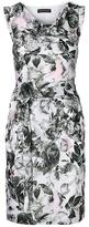 Banana Republic Floral Cowl-Neck Tie-Waist Sheath Dress