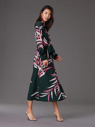 Diane von Furstenberg Von Front Tie Silk Dress